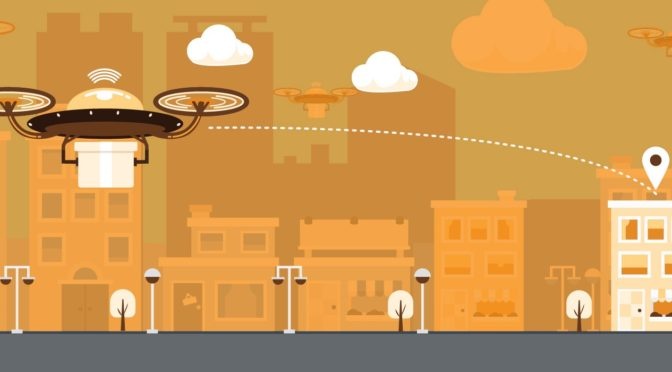 How Does a Drone Optimize its Routes?