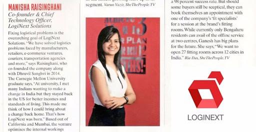 Loginext, CTO, Manisha Raisinghani