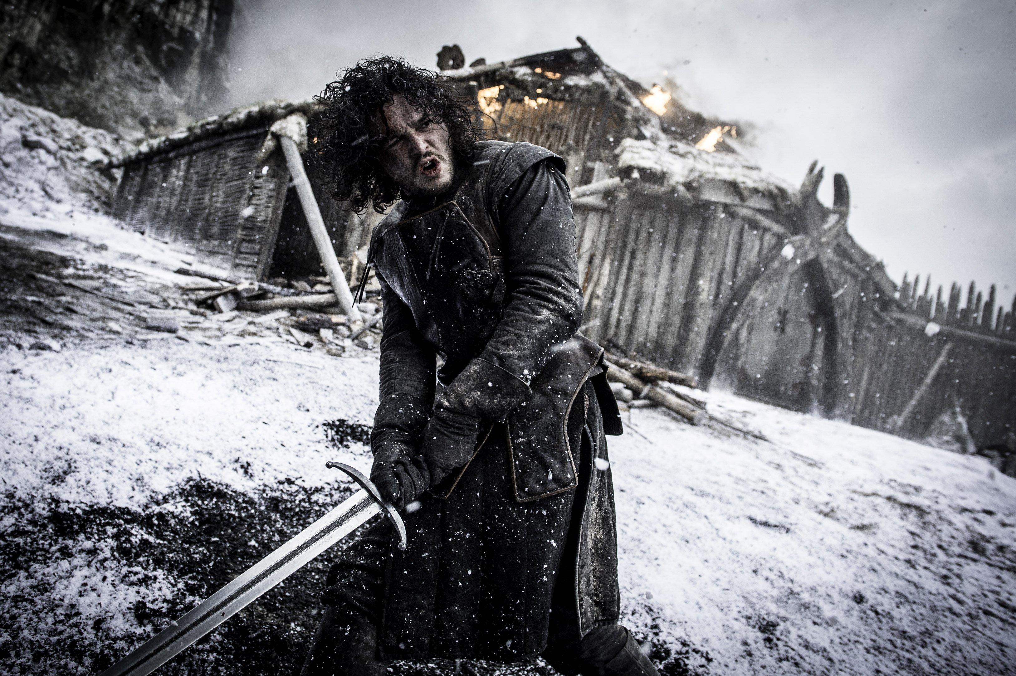 Jon Snow with the Great Sword