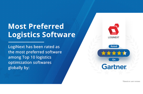 Gartner rates LogiNext as most preferred logistics planning software