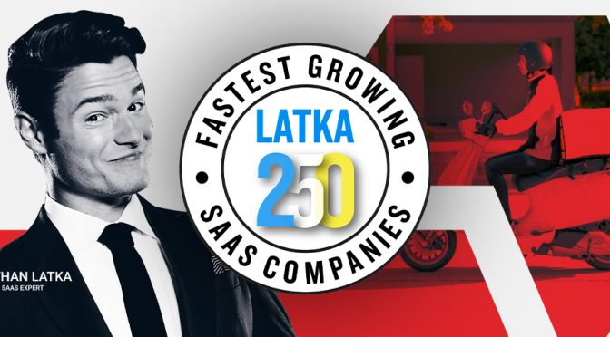 LogiNext in global Top 20 on the Latka Fastest Growing SaaS Company List