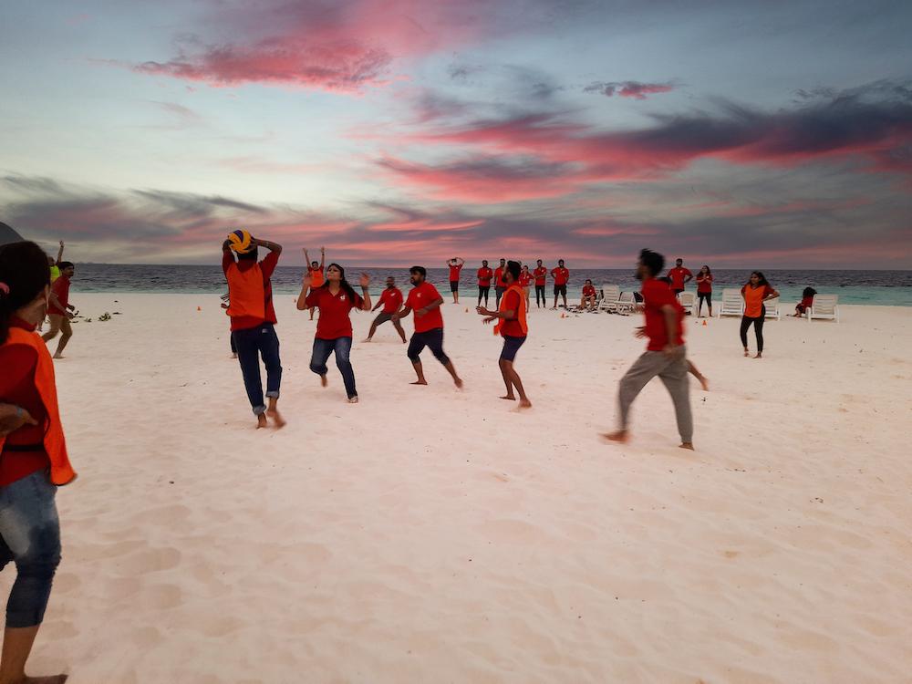 Handball on the beach, LogiNext Workation