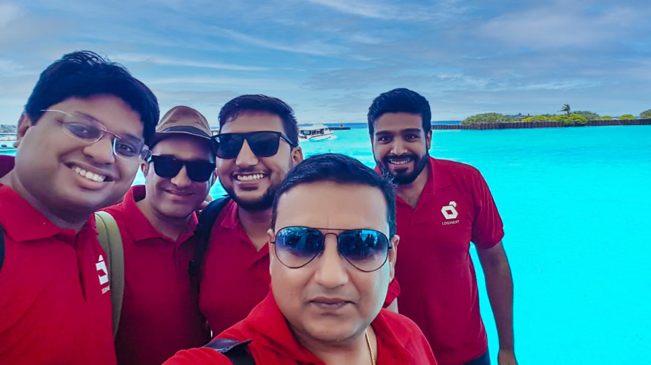 Sales team at LogiNext Workation