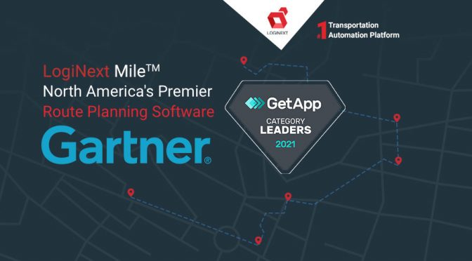 LogiNext Mile named Category Leader for Route Planning Software in North America