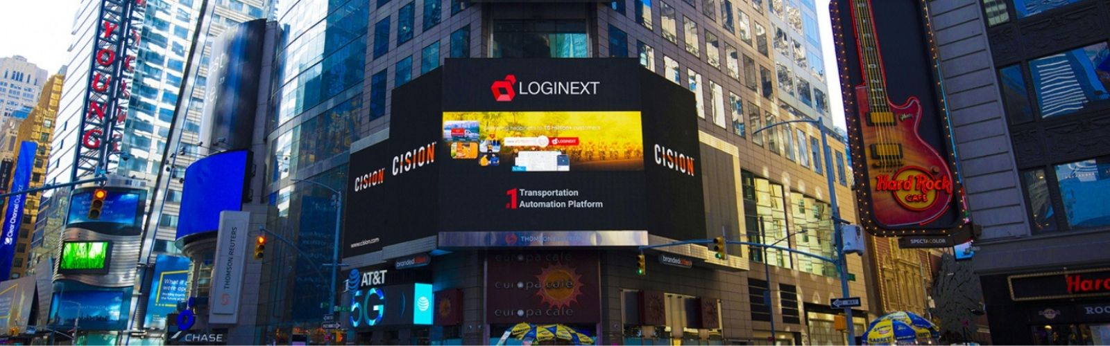 LogiNext on New York Times Square!