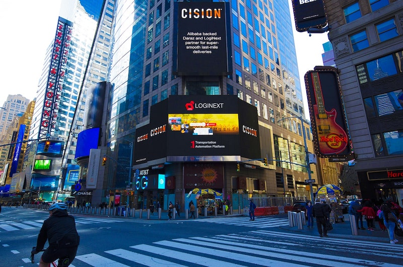 LogiNext is Proud to be on Times Square